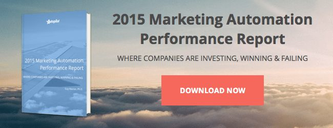 Marketing automation performance report CTA button