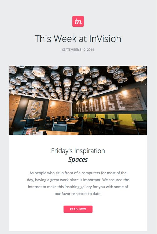 Invision's email template