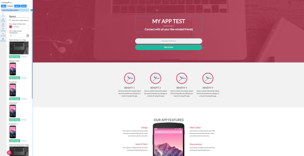 kickofflabs-landing-page-builder