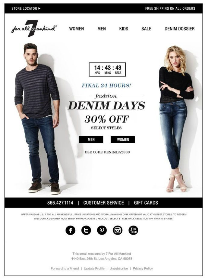 7 for all mankind sales email
