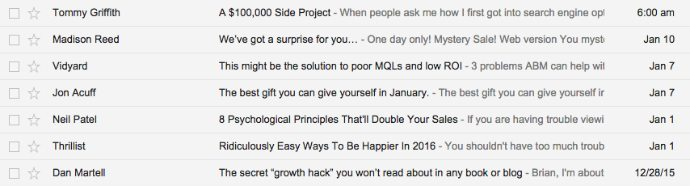 Great subject line examples