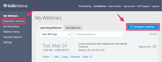 Setting Up a Webinar With GoToWebinar, Instapage, and Autopilot