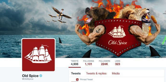 Old Spice Twitter header