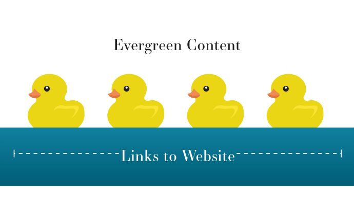 Evergreen content ducks