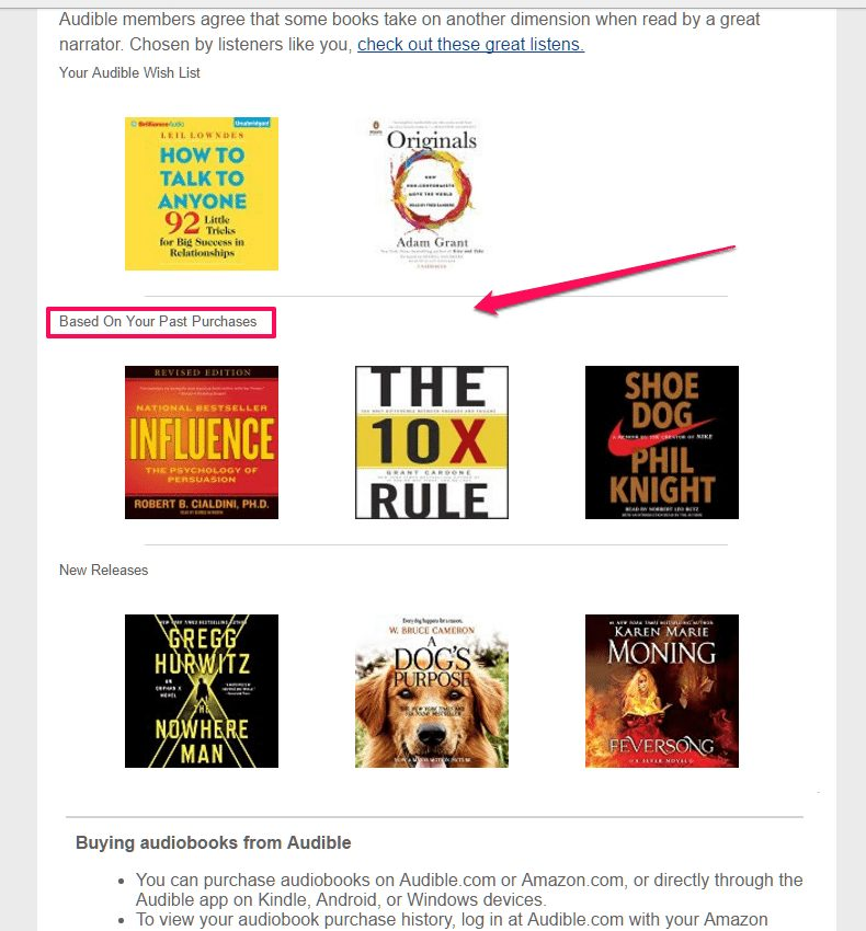 audible email