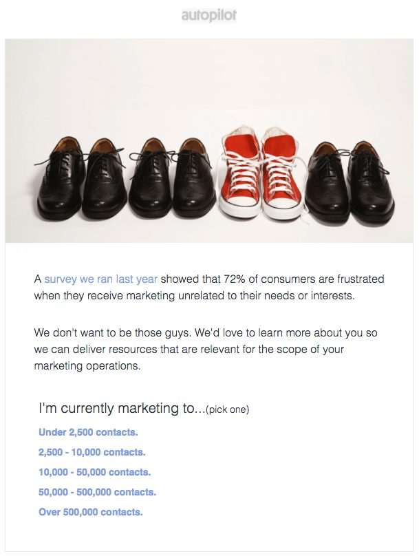 personalized email shoes