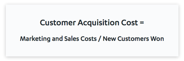 Customer acquisition cost (CAC) formula