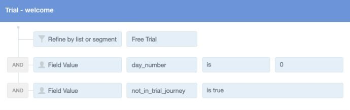trial welcome criteria