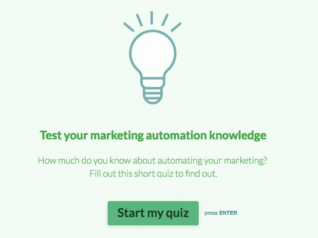 Typeform quiz screenshot